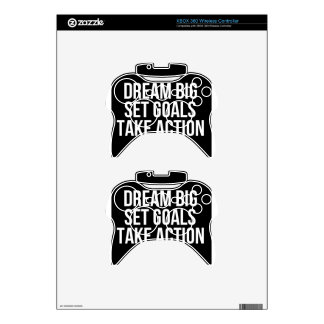 Dream Big Set Goal Take Action Motivational Quote Xbox 360 Controller Skin