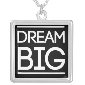 Dream Big Silver Plated Necklace