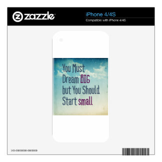 Dream Big Skins For iPhone 4S