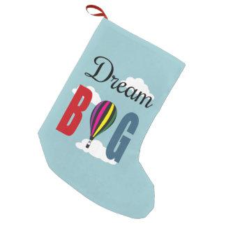 Dream big small christmas stocking