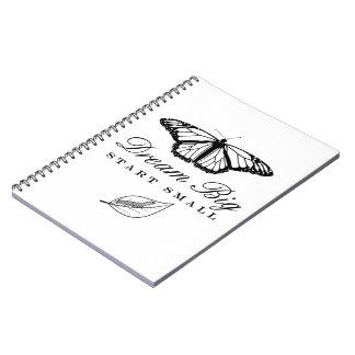 Dream Big, Start Small Spiral Notebook