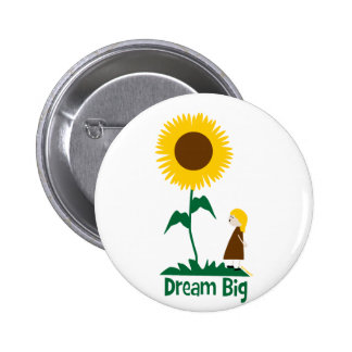 Dream Big Sunflower Girl Pins