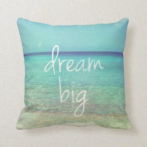 Throw Pillows Big : Dream big throw pillow Zazzle