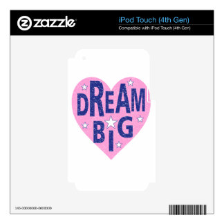 Dream big vintage heart iPod touch 4G decals