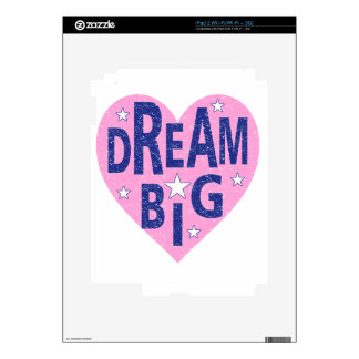 Dream big vintage heart skins for the iPad 2