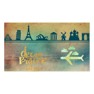 Dream big,vintage paper colorful,travel collage Double-Sided standard business cards (Pack of 100)