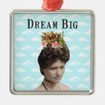 Dream Big Vintage Photo Collage Ornament