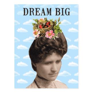 Dream Big Vintage Photo Collage Postcard