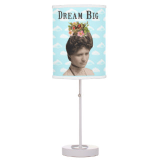 Dream Big Vintage Photo Collage Table Lamps