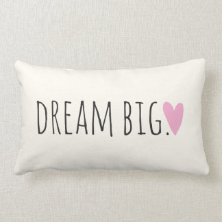 Dream Big with Heart Throw Pillow