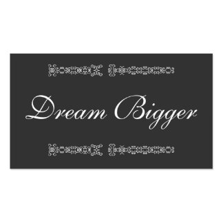 Dream Bigger Gift Card Business Card Template