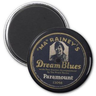Dream Blues, Ma Rainey Record Label Fridge Magnets