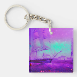 Dream Boat Star Filled Sky Keychain