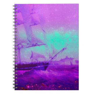 Dream Boat Star Filled Sky Notebook