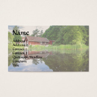 Dream Cabin Lake House Pond Real Estate Agent Busi Business Card