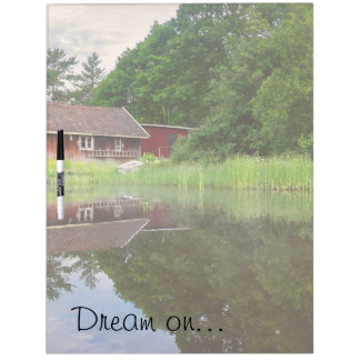 Dream Cabin Lake House Pond Vacation Home Dry-Erase Board