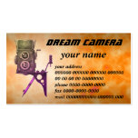 dream camera Double-Sided standard business cards (Pack of 100)