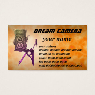dream camera business card
