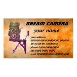 dream camera business card template