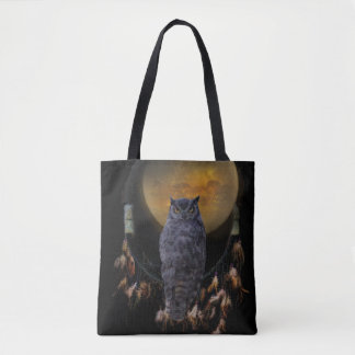Dream Catch Owl and Horse Tote Bag