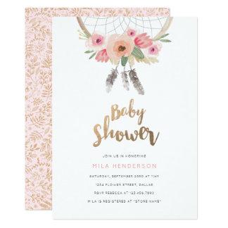 Dream Catcher Baby Shower Invitation