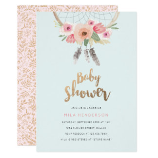 Dream Catcher Baby Shower Invitation