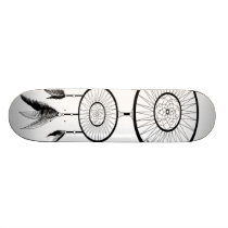 DREAM CATCHER BLACK AND WHITE SKATEBOARD