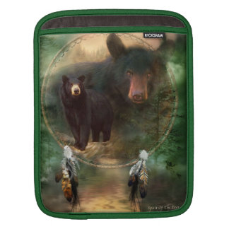 Dream Catcher - Black Bear Spirit iPad Sleeve