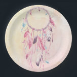 "Dream Catcher Boho Paper Plate<br><div class=""desc"">Whether you're planning a birthday,  baby shower,  or any other celebratory occasion,  these dream catcher paper plates are perfect for your boho tribal party!</div>"