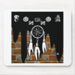 DREAM CATCHER BRICK BACKGROUND PRODUCTS MOUSE PADS