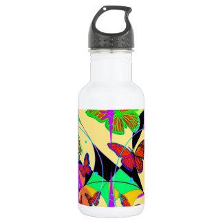 Dream Catcher Butterflies By Sharles Fine Ar 18oz Water Bottle