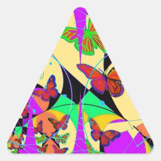 Dream Catcher Butterflies By Sharles Fine Ar Triangle Sticker