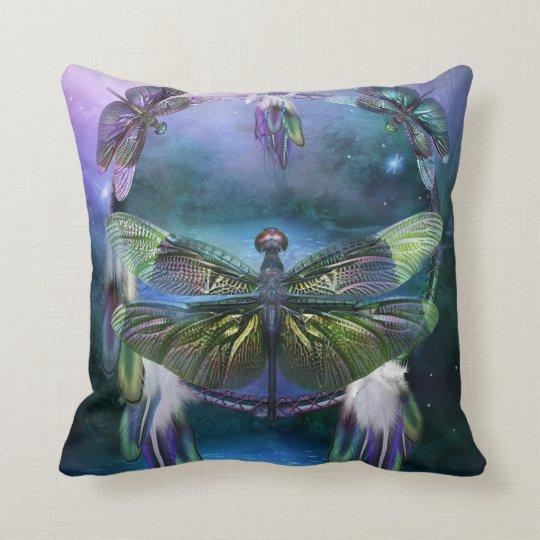 Dream Catcher - Dragonfly Spirit Designer Pillow