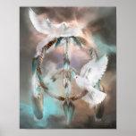 Dream Catcher - Dreams Of Peace Art Poster/Print