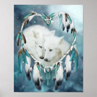 Dream Catcher - Heart Of A Wolf Art Poster/Print Poster