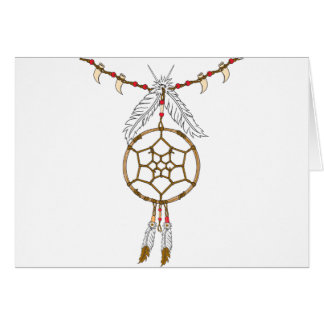 Dream Catcher Necklace Greeting Cards
