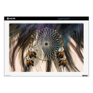 Dream Catcher on Feathers Laptop Skin