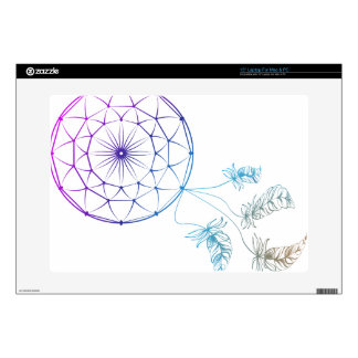 dream catcher on white background decals for laptops
