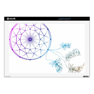 dream catcher on white background laptop decal