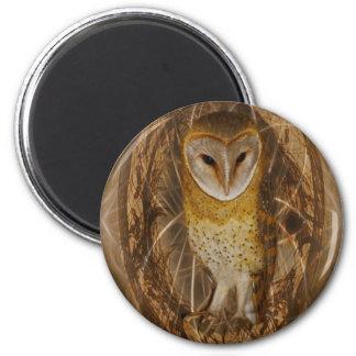 Dream catcher owl 2 inch round magnet