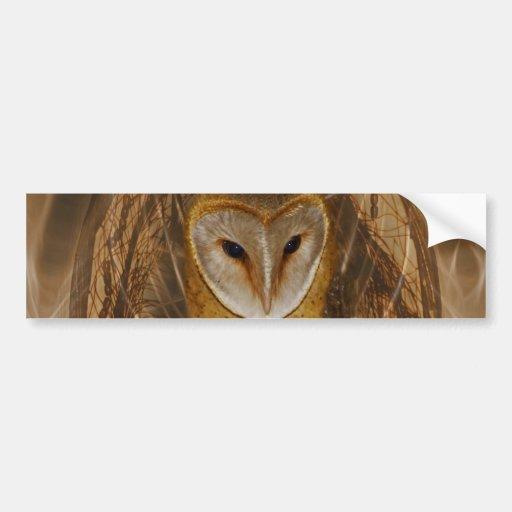 Dream catcher owl car bumper sticker