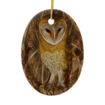 Dream catcher owl ceramic ornament