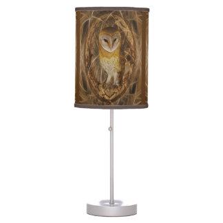 Dream catcher owl desk lamp