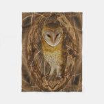 Dream catcher owl fleece blanket