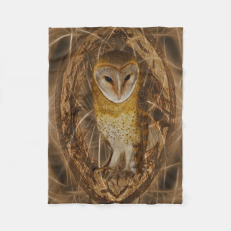 Dream catcher owl fleece blanket