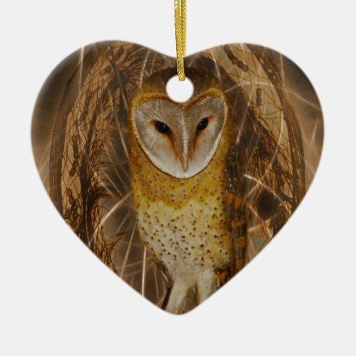 Dream catcher owl ornaments