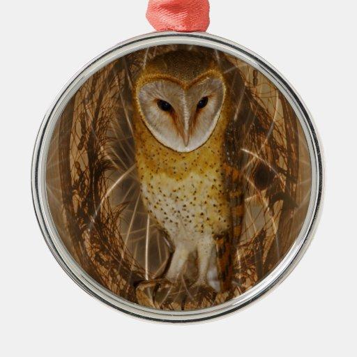 Dream catcher owl christmas ornament