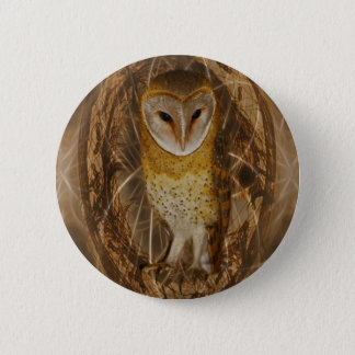 Dream catcher owl pinback button