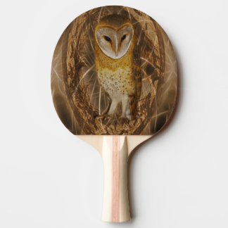 Dream catcher owl ping pong paddle