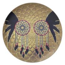 Dream Catcher Owl Plate